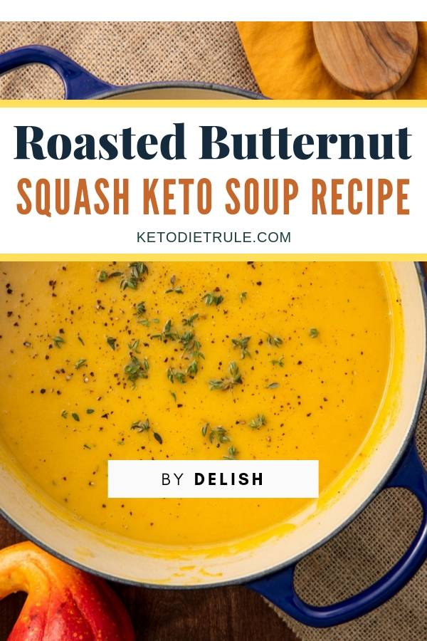 Roasted butternut squash keto soup